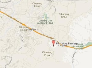 Google Map Victory Blessings Indonesia