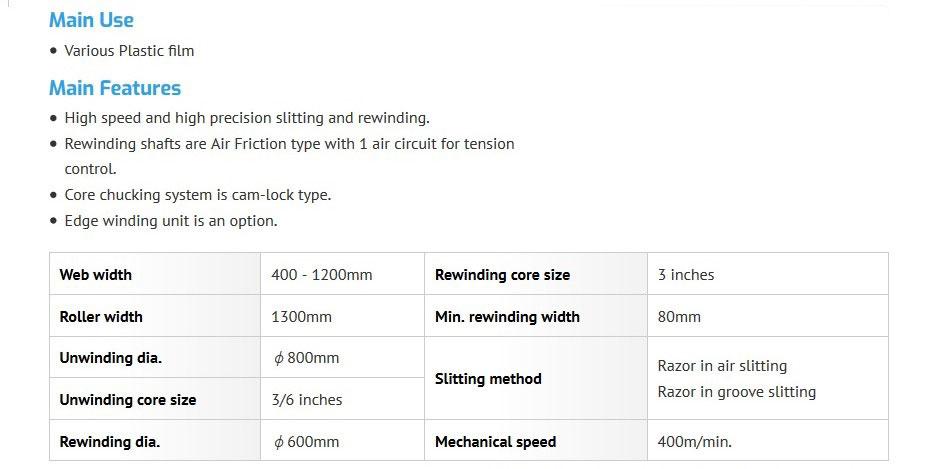 spesifikasi mesin slitting hagihara